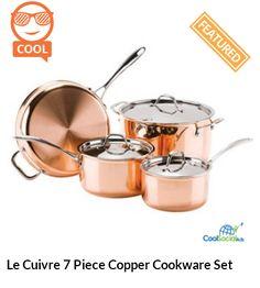 Le Cuivre 7 Piece Copper Cookware Set for more details visit http://coolsocialads.com/le-cuivre-7-piece-copper-cookware-set-62625