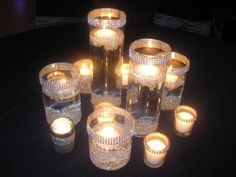 bling centerpieces for wedding | ... and rhinestones scattered on the table Bling Wedding Centerpieces