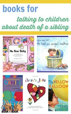 a list of books that talk about a sibling's death. This list of books provides alot child friendly books that I can use to help children and talk to them about the death of a sibling. Helping Children, Children And Family, Child Life Specialist, Grief Loss, Coping Skills, Social Skills, Life Skills, This Is A Book, Book Lists