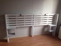 Achterwand Bed Maken Fresh Achterwand Bed Van Pallets En Steigerhout Wooden Pallets, Shoe Rack, New Homes, Storage, Diy, Trap, Furniture, Club, Lifestyle