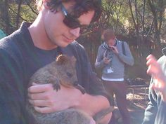 Abraham Lincoln: Vampire Hunter star, Benjamin Walker, wears sunglasses as he gets in touch with nature. Benjamin Walker, American Psycho, Vampire Hunter, Husband, Male Celebrities, Bear, Actors, Photo And Video, Abraham Lincoln