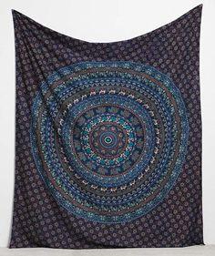 Queen Indian Hippie Ethnic Bohemian Psychedelic Mandala Handmade Tapestry