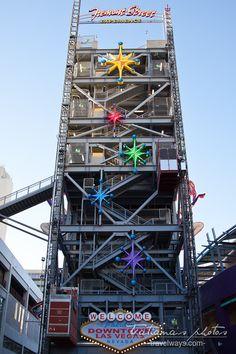 Slotzilla zip line tower on Fremont Street Experience, Las Vegas