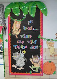 cute door decoration   First Grade Fever!: literacy activities