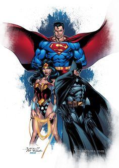 Superman, Batman and Wonder Woman//Mark Bagley/B/ Comic Art Community GALLERY OF COMIC ART