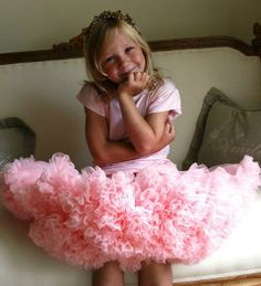 f6ad060e7ee234 Angels Face Rose Pink Pettiskirt worn with a Rose Pink Angel Sleeve T-shirt