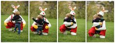 """daddy as the """"easter bunny""""- http://www.bullockproductions.com/"""