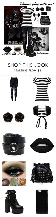 """Laughing Jack"" by dadrumma on Polyvore featuring Dolce&Gabbana, Erica Lyons, Miss Selfridge, Hermès, Lime Crime, STELLA McCARTNEY, Maison Margiela, creepypasta and LaughingJack"