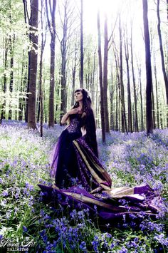 """Another Pinner said: """"She's so gorgeous with her rockstar hair, celtic braids, and Lord of the Rings forest.  Congratulations on your forest, miss. And your corset is lovely too.""""  -- too funny =)"""