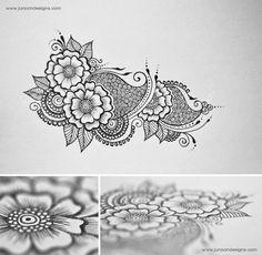 Floral Doodles by Faheema Patel, via Behance