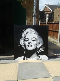 Excited to share the latest addition to my #etsy shop: Marilyn Monroe painting large canvas stencil art spray paint art black white film star hollywood icons pop art street art portrait custom http://etsy.me/2AmUbqC