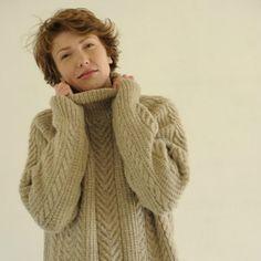Sue's Aran Sweater front