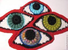 crochet eyes,Phototutorial
