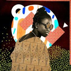 1. Miss Kanté Sira by Malick Sidibe 2. Interpretation: Jules Tardy graphic design inspired by Malick Sidibe. 3. Interpretation: @luztraveler