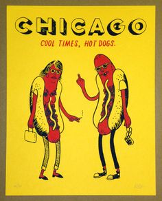 Cool Times, Hot Dogs print