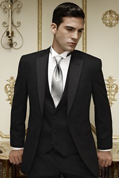 Top Ing 2017 Clic Black Jacket With Satin Lapel Groom Tuxedos Groomsmen Best Man Suit Men Wedding Suits Pants Bow Tie