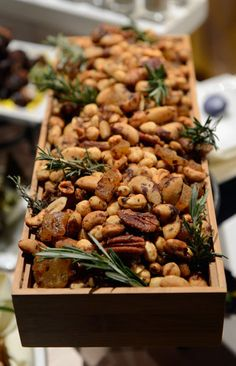 Party Nut Mix: For a taste of both the Winter season and the tropics, cocktail platters will also include a party nut mix spiced with rosemary and pineapple.   Source: Getty