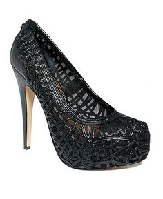 Calvin Klein Women's Shoes, Elizabeth Platform Pumps. These also come in a nude/pink color.