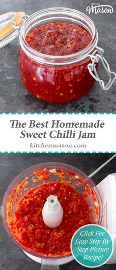 The Best Sweet Chilli Jam - Recipes - Sauce recipes Chilli Recipes, Jam Recipes, Canning Recipes, Sauce Recipes, Chilli Jelly Recipe, Recipies, Canning Tips, Jelly Recipes, Cooker Recipes