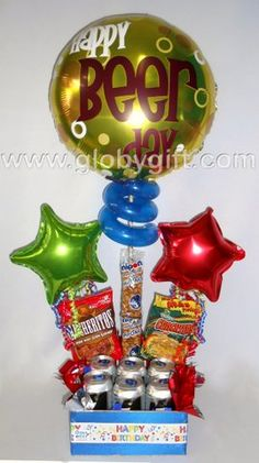 De lo más pedido para regalar a caballero: globos, ceveza y botana! $370 MXN