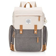 """Parker Baby Co. Diaper Backpack - Large Diaper Bag with Insulated Pockets, Stroller Straps and Changing Pad - """"Birch Bag"""""""