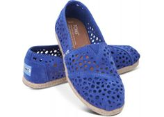 Cute for summer! Blue Moroccan Cutout Women's Classics | TOMS.com