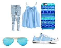 """""""Bez naslova #17"""" by aneela-57 ❤ liked on Polyvore featuring Boohoo, Converse, Uncommon, H&M and Ray-Ban"""