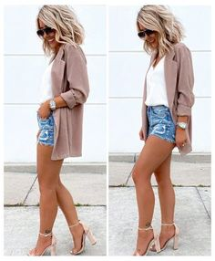 Cute Date Outfits, Style Outfits, Summer Fashion Outfits, Casual Summer Outfits, Mode Outfits, Short Outfits, Spring Outfits, Trendy Outfits, Sexy Date Outfit