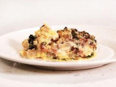 The Ultimate Breakfast for Dinner: Sausage and Spinach Egg Strata from CookingChannelTV.com