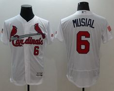 Cardinals #6 Stan Musial White Fashion Stars & Stripes Flexbase Authentic Stitched MLB Jersey