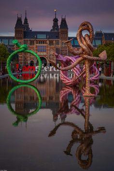 Vijver #Museumplein met #Rijksmuseum 'I AM'!