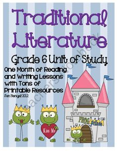 Traditional Literature Reading & Writing Unit Grade 40 Lessons with CCSS - Jen Bengel Writing Lessons, Teaching Writing, Teaching Ideas, Writing Ideas, Teacher Resources, Readers Workshop, Writing Workshop, Traditional Literature, Writing Conferences