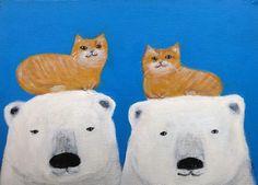 Polar bears & cats by pepeart