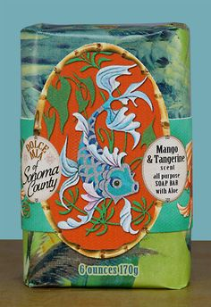 Fish Mango Tangerine Soap Bar 6 oz. This soap is DIVINE!!! Smooth, melts into your skin & smells amazing