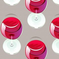 wineglass fabric by glimmericks on Spoonflower - custom fabric Custom Fabric, Spoonflower, Wine Glass, Gift Wrapping, Wallpaper, Unique, Prints, Pattern, Fabrics