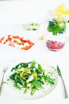 Shaved Zucchini and Argula Salad | Lazy Sunday Cooking | Lifestyle Blog