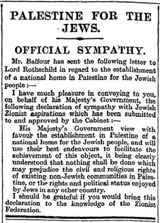 Balfour Declaration in the Times 9 November 1917 - Balfour Declaration - Wikipedia, the free encyclopedia