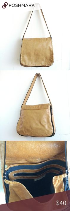 """Francesco Biasia / Camel Tone Leather Satchel Francesco Biasia / Camel Tone / Genuine Leather/  Expandable Satchel / 11"""" x 11.5"""" / 13"""" strap drop / 2.5"""" w - expands to 5"""" w / small flaws to exterior beyond normal wear / Happy shopping ❤️ Francesco Biasia Bags Satchels"""