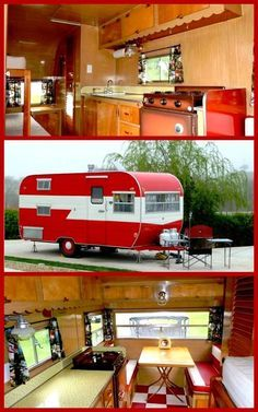 Custom vintage camper trailer This is more my style of camping, where as my sister tells me this is not camping. She likes the tent ,i like the camper. Old Campers, Vintage Campers Trailers, Vintage Caravans, Camper Trailers, Vintage Motorhome, Custom Campers, Trailer 2, Happy Campers, Retro Camping