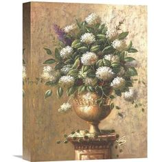 Global Gallery 'Floral Expressions l' by Welby Painting Print on Wrapped Canvas Size: