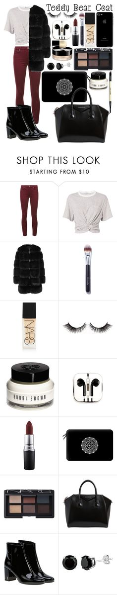 """""""Untitled #176"""" by ellen-frisk ❤ liked on Polyvore featuring 7 For All Mankind, T By Alexander Wang, Givenchy, PINCEAU, NARS Cosmetics, Bobbi Brown Cosmetics, PhunkeeTree, MAC Cosmetics, Casetify and Chanel"""