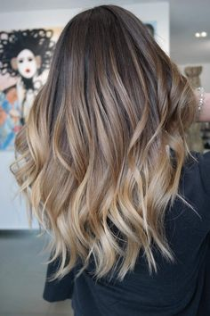 140 ombre hair looks that diversify common brown and blonde ombre hair 95 Brown Ombre Hair, Brown Blonde Hair, Brown Hair With Highlights, Brunette Hair, Ombre Hair Color For Brunettes, Brunette Highlights, Balayage Highlights, Dark Blonde, Wavy Hair