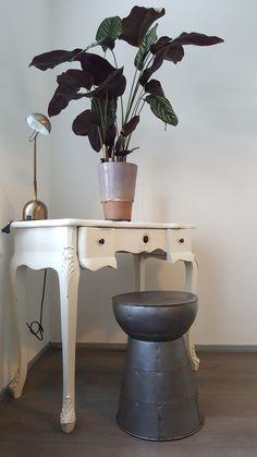 Kaptafel met plant bureaulamp Sidetable / dressingtable with plant and desk lamp