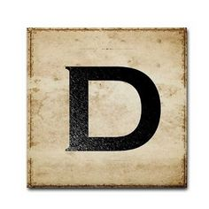 Letter D by TintPress on Etsy, $16.00