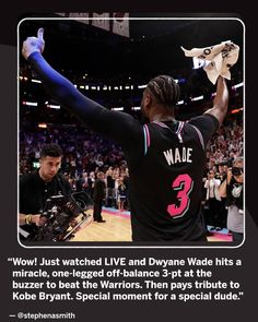 D-Wade going out in style. Way to go, Bro! American Airlines Arena, Downtown Miami, Dwyane Wade, Miami Heat, Basketball Teams, Kobe Bryant, Bro, Going Out, In This Moment