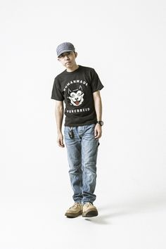 Editorial of Nigo styled by his brand Humanmade