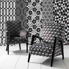 Monochrome Collection, Warwick Fabrics / Black and White