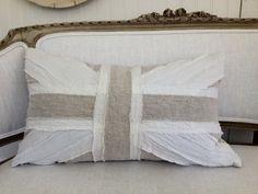 linen union jack pillow