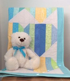 Handmade Baby Quilt, Hearts Quilt, Baby Shower Gift, Nursery Bedding, Boy or Girl Quilt, Baby Blanket, Baby Christmas, Gender Neutral Baby Patchwork Quilt, Quilt Baby, Boy Or Girl, Baby Boy, Handmade Baby Quilts, Quilt Labels, Girls Quilts, Tummy Time, Nursery Bedding