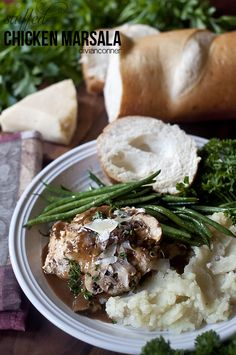 divian l conner: Tried it and loved it: Olga's Flavor Factory Stuffed Chicken Marsala Chicken Marsala, Incredible Edibles, Meat Chickens, Sweet Desserts, Entrees, Stuffed Chicken, Side Dishes, Dinner Recipes, Pork